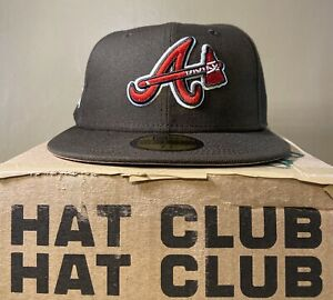 """Atlanta Braves Brown Fitted Sneakertown Exclusive """"Pink Chocolate"""" Size 7 1/4"""