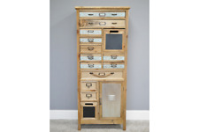 Multi Drawer Chest with Door and chalkboard shabby Chic 131cm tall retro