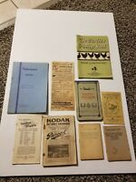 Antique Advertising Booklet Lot of 9, Estate Sale Find, Cooking, Photography
