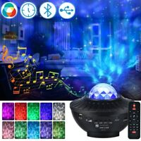 LED Galaxy Starry Night Light Projector Ocean Star Sky Party Music Lamp w/Remote