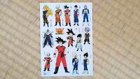 Dragon Ball Stickers Dragonball Z Son Goku Gohan Trunks Vegeta Piccolo Goten