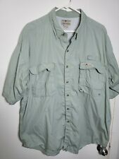 Hook tackle Light Green fishing shirt Size X-Large