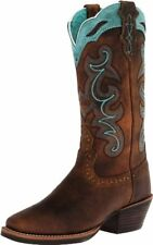 """Justin  Boots Womens Silver Collection 12"""" Punchy Boot Wide Square"""