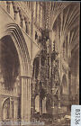 B5136cgt UK Exeter Cathedral The Biishops Throne Worths vintage postcard