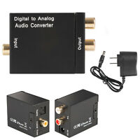 Digital Optical Toslink Coax to Analog L/R RCA Audio Converter Adapter TV Video