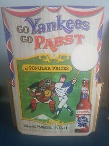 (VTG) 1958 NEW YORK YANKEES & PABST BEER  MICKEY MANTLE BASEBALL NY SIGN RARE