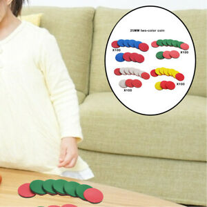 100Pcs Learning Counters Counting Chips Early Math Discs Markers Bingo Chips