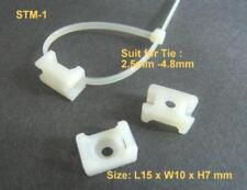 STM-1 Saddle Cable Mount White for Wire Zip Tie Size 2.5 - 4.8mm #gtns x 100 pcs