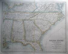More details for united states of north america, s.e. states fullarton original antique map c1865