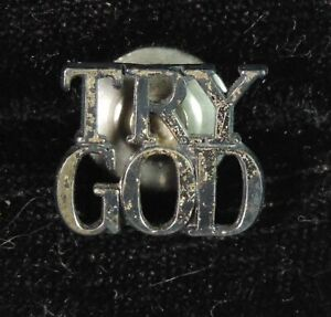 Tiffany & Co. Sterling Silver 925 Try God Lapel Pin