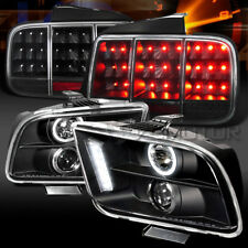 05-09 Mustang Black Halo Projector Headlights+Sequential LED Signal Tail Lamps