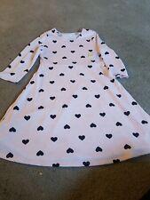 Wonder Nation Girls XL Knit Dress Pink Hearts