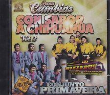 Los Rieleros del Norte y Conjunto Primavera Puras Cumbias Con Sabor Vol 2 CD NEW