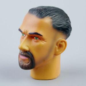 "ZY 1/6 001 Male Custom Head Sculpt Model Fit 12"" Action Figure Body Soldier Mode"