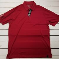 Ogio Golf Polo Shirt Mens Large Red Tour Performance Short Sleeve P116
