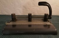 Vintage 3 Hole Punch Master Products Mfg Heavy Duty Industrial Series 1000