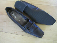 Gabor Brown Leather Slip On Shoes, size US 9.5