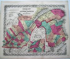 Map Of Canada Quebec Montreal.Quebec Montreal Canada Antique North America Maps Atlases For Sale