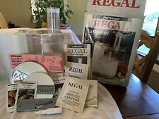Vintage Regal La Machine 1 Food Processor with Box and Accessories And Inserts.