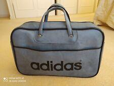 De Colección Adidas Azul Original Peter Negro Bolsa Deporte Bolsa De Viaje Exc Estado años 70