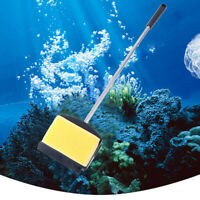 Fish Tank Algae Yellow Green Double Side Sponge Aquarium Cleaning Brush Tool OZ