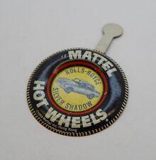 Redline Hotwheels Button Badge Metal Hong Kong Rolls-Royce Silver Shadow R17284