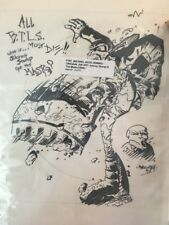 1997 Michael Avon Oeming Original Art Johnny Stomp & The Mask 11x13 Signed Auto