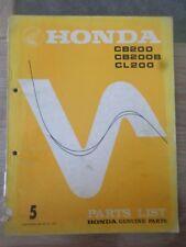 honda cb200  honda cl200  . parts list