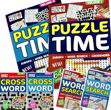 A4 LARGE PRINT PUZZLE BOOKS KIDS & ADULTS ACTIVITY BORED HOME NO SCHOOL ISOLATE