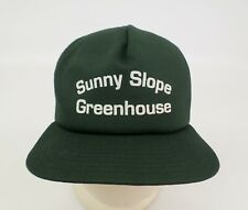 Sunny Slope Greenhouse Hat Cap New Era M L Mesh Snapback Trucker Green Vtg USA