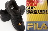 FILA Memory Workshift Slip Resistant Men's Work Shoe - Black