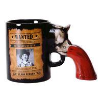 Kaffeebecher Wilder Westen mit Revolver als Griff Kaffeetasse Tasse Becher