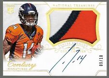 2014 National Treasures Platinum Cody Latimer On Card Auto 3 Color Patch Rc /10