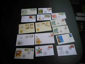 Alle Welt - 15 Ersttagsbriefe Thailand, Suriname, Cote D'Ivoire, UNO, Aland