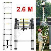 2.6m Portable Heavy Duty Multi-Purpose Aluminum Telescopic Extendable Ladder New