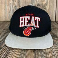 Mitchell & Ness Miami Heat NBA Black & Grey Snapback Adjustable Fit Hat Cap
