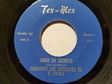 """LOS SATELITES de FIDENCIO AYALA - Amor En Secreto LATIN TEX-MEX RANCHERA 7"""""""
