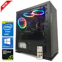 Gaming PC Desktop: Intel Core i7 3.8GHz/GTX 1060/12GB RAM/RGB/Fortnite 150+fps
