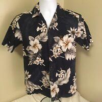 Pacific Legend Mens Hawaiian Aloha Camp Shirt Small Blue Floral Free Shipping!