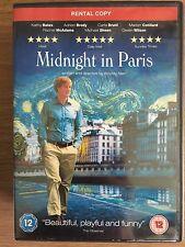 Owen Wilson Adrien Brody MIDNIGHT IN PARIS ~ Woody Allen Comedy   UK Rental DVD