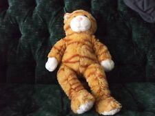 "17"" BABW orange tabby cat Meows when left wrist squeezed"