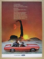 1969 Ford Thunderbird 2-door Landau red car color photo vintage print Ad