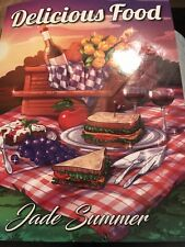DELICIOUS FOOD-ADULT COLORING BOOK By JADE SUMMER M-9