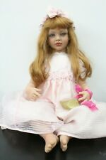 "Fayzah Spanos 1998 Signed Limited 563/1000 30"" Girl Toddler Hard Vinyl Doll"