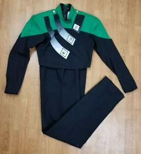 Marching Band Uniform Green & Black w/ Black Bibbers Cesario E. J. Miller