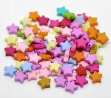 500 Mixte Perles Breloque étoile à cinq rayons Acrylique 9x9mm