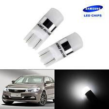 2x Ampoules T10 W5W 501 SMD 2 LED Veilleuse Eclairage de plaque Blanc 6000K DRL