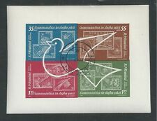 ROMANIA # C122a Used SPACE EXPLORATION STAMPS & DOVE Miniature Sheet
