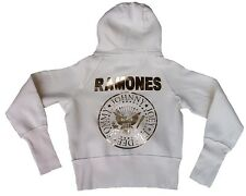 WOW Amplified Ramones Hey Ho Let 's Go Star Zip Hoodie Sweat Shirt CREMA Giacca M