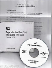 U2 South African Edge Interview Disc ( Short ) The Best Of 1990-2000 CDR